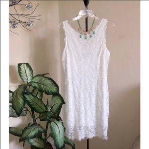 Jump apparel white lace dress